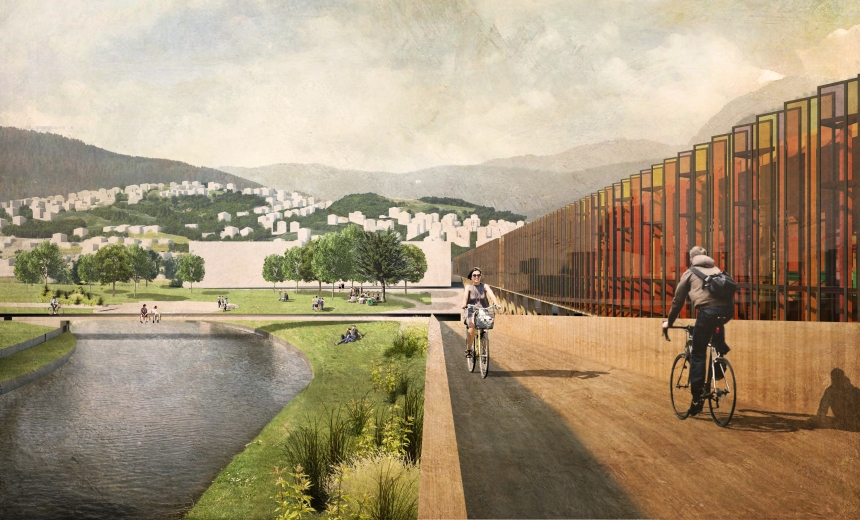 graduation-project-sarajevo-bicycle-bridge-park-recreation